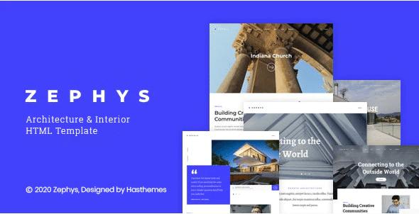 Architecture & Interior HTML Template -Zephys