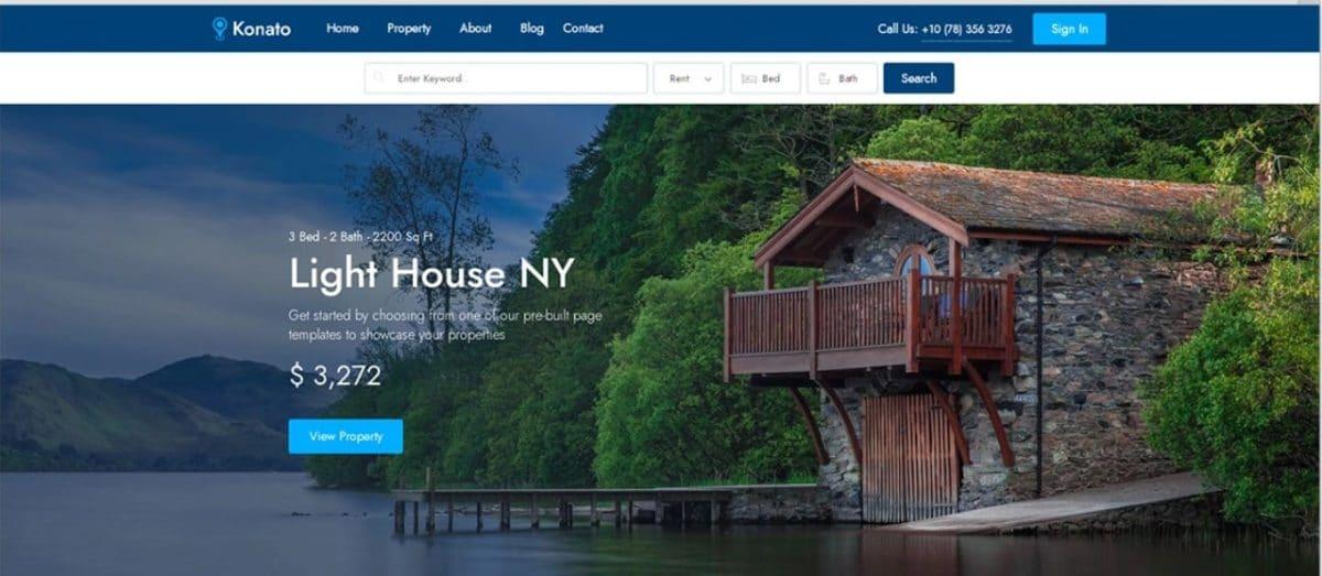 Konato - Fantastic Real Estate Listing Website Template