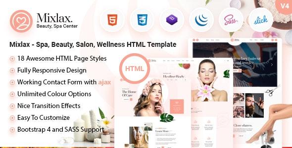 mixlax spa beauty salon html template