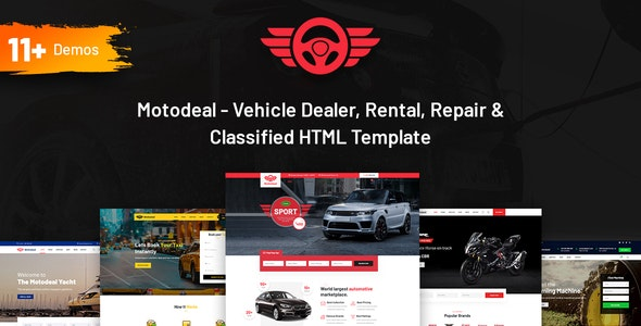 motodeal car dealer & classified html5 template