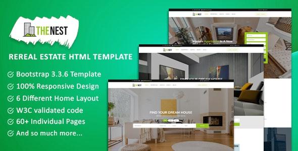 NEST - Simple Real Estate Website Template