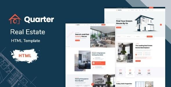 quarter real estate html template