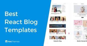 react blog template