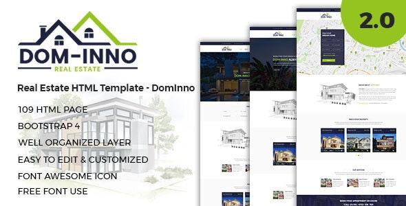 real estate html template dominno