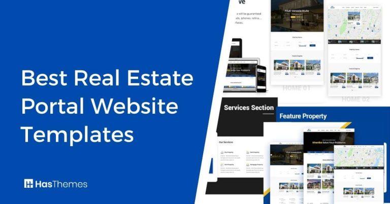 real estate portal website templates