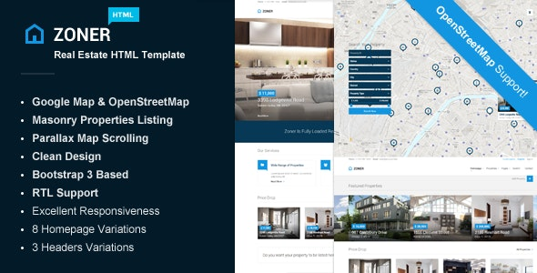 real estate template zoner