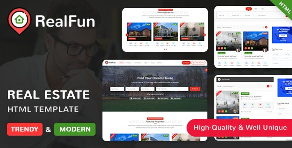 RealFun - Commercial Real Estate Websites Template