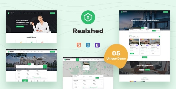 realshed real estate html template