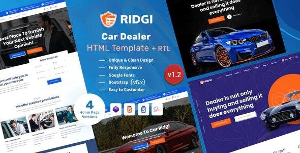 ridgi car dealer html template