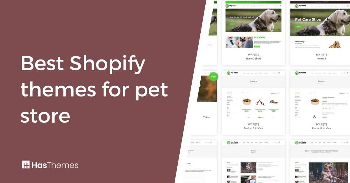shopify themes for pet store