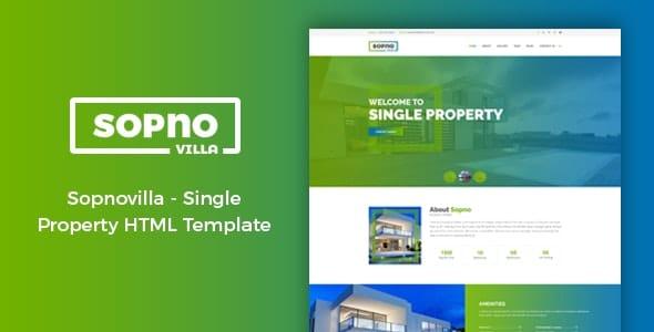 sopnovilla single property real estate template