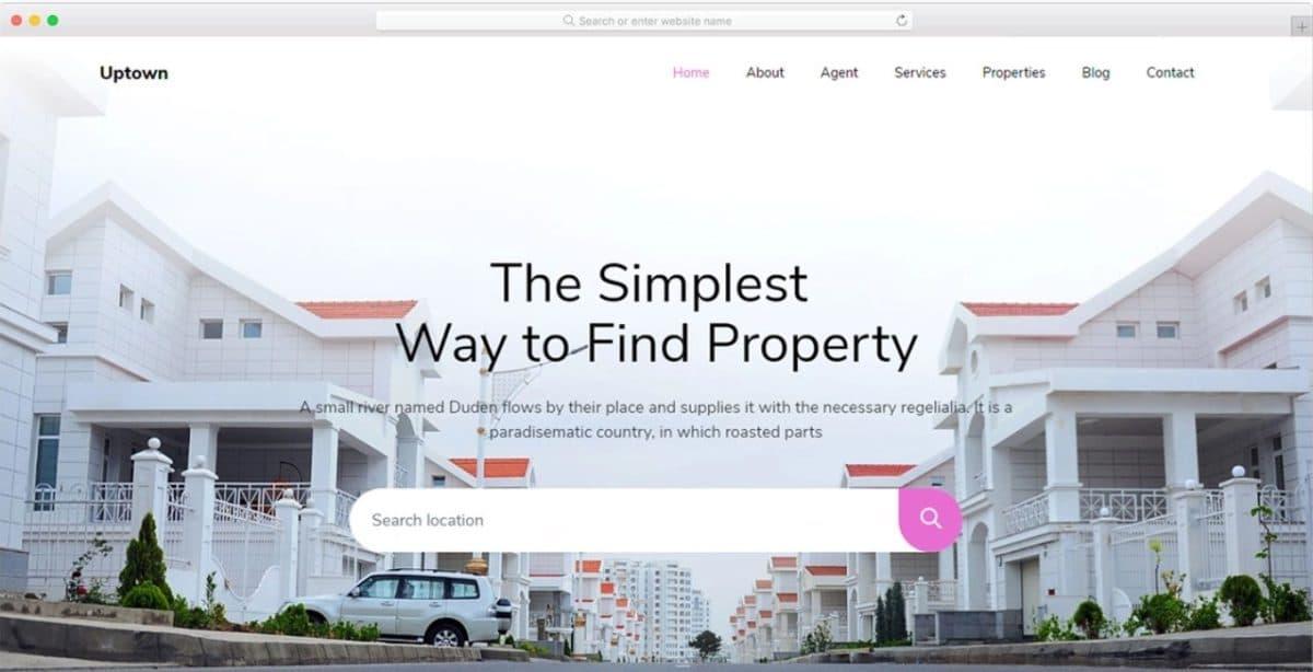 Uptown - Property Management Website Template