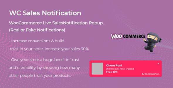 woocommerce live sales notification plugin