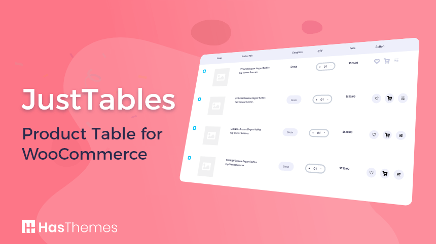 JustTables - Product Table for WooCommerce   woocommerce product table