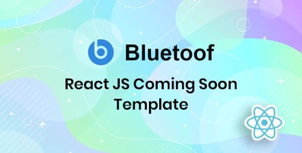 Bluetoof – React JS Coming Soon Template