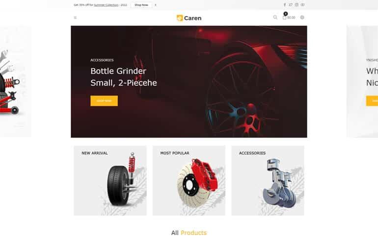 Caren – Auto Parts, Car Accessories Shopify Theme