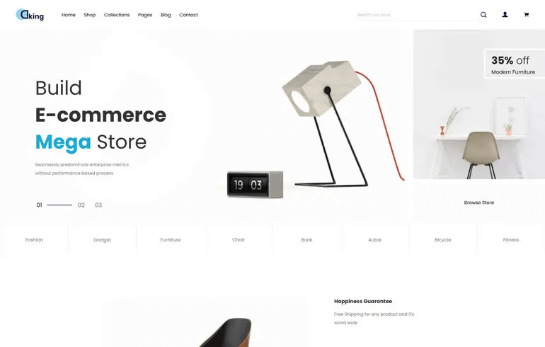 Dking - Multipurpose ECommerce Shopify Theme