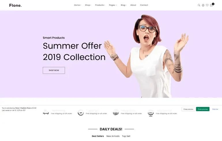 Flone - Minimalist Shopify Theme