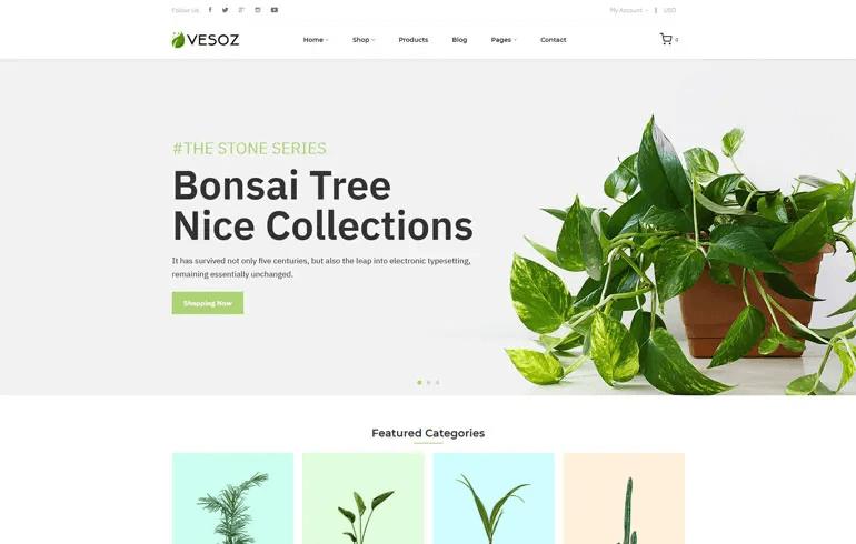 Vesoz - Plants And Nursery Shopify Theme